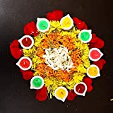 Kieana Designer Multicolor Diya/Deepak With Wax Candle For Diwali Puja Gift | Handmade/Handicraft Item | Diya For Decoration | Diya For Puja | Diya Lamps For Pooja | Diwali Gifts And Decoration( Pack Of 8)