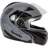 Spada Cyclone Flip Front Motorcycle Helmet ACU Gold Approved Gloss Black L 59-60cm