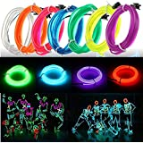 3 M LED plegable el Wire Neon Glow Light Rope Strip 12 V para Christmas Holiday Party