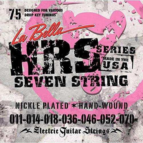 LaBella 673117 Saiten für E-Gitarre Nickel Plated Steel Satz (7-string)