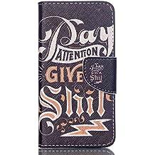 Guran® Pintado Funda de Cuero Para Acer Liquid Z330 Smartphone Tirón de la Cubierta de la Función de Ranura Tarjetas y Efectivo Caso-escritura