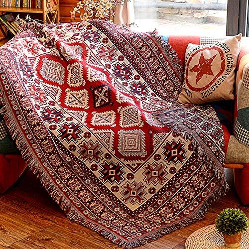 Aishankra S10 Simple Doppelseitige Verwendung Teppich Sofa Handtuch Stuhlbezug Tischdecke Bettzeug Und Quasten Werfen Decken Auto Decken Wandteppiche Hauptdekorationen,7'5''X9'2''/230X280CM -