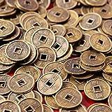 d18b9f92b0 100 pezzi, monete I Ching, Fengshui, diametro: 1 cm + borsa regalo