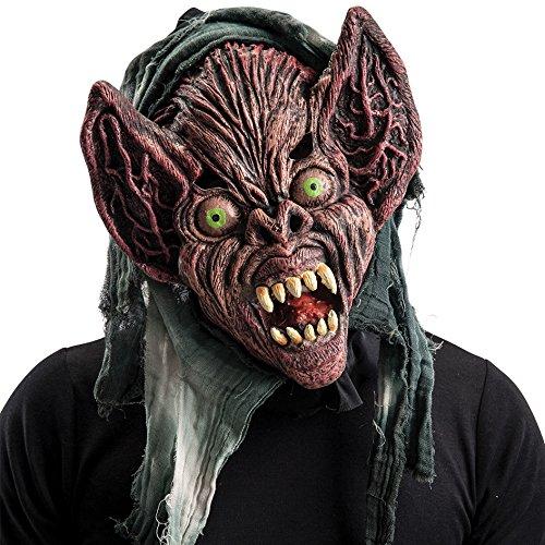 Máscara de goma Eva monstruo extraterrestre con capucha en bolsa con encabezado, multicolor (744)