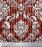 Soimoi Rot Baumwolle Ente Stoff Streifen & Vektor-Design
