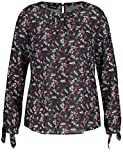 TAIFUN Bluse Langarm Blusenshirt mit Floral-Print Schwarz 44