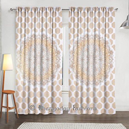 "Ombre Popular Mandala tapiz Mandala cortinas, ventana tratamiento, indio Mandala, tapiz boho cortinas, de cortinas, cortinas, Boho Drapery Decor 80x 104"""