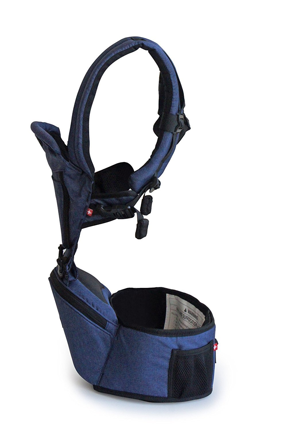 Hipster Plus Baby Front Carrier (Denim) MiaMily PREMIUM SWISS QUALITY - Inspired by parents who want the most natural fabrics for their babies. Safety is our top priority therefore we only use PREMIUM materials like self-locking YKK zippers and Duaflex buckles. Our shoulder strip was designed with a 3-way lock buckle for extra security and 3D ADJUSTABLE system, to easily adjust the fit from front and back. FITS ALL SHAPES AND SIZES - Tall or short our carrier will support your baby from 3 months to 4 years ( until they weigh 44 lbs. HIPSTER Plus 3D is a versatile ergonomic baby backpack that allows you to carry your baby 9 different ways (including front, forward facing, back, and hip carry positions). ELIMINATES BACK PAIN AND RUBBING - Built in ergonomic hip seat, hip seat carrier provides maximum comfort for parents with ergonomic design, which allows weight to evenly distribute between the wearer's hips and shoulders and allows baby to be in a natural sitting position at all times. 2