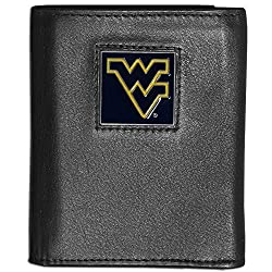 NCAA West Virginia Mountaineers Deluxe Leather Tri-fold Wallet