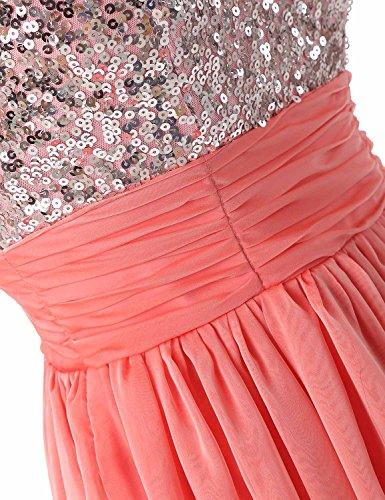 Sarahbridal Damen Tüll Abendkleider Kurz Herzenform Abschlusskleider Ballkleid mit Paillette SSD032 Schwarz-016