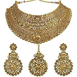 Muchmore Beautiful Choker Design Made Gold Plated Fashion Necklace Set For Women