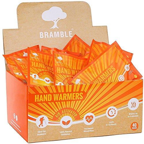 40 paia premium scaldamani, hand warmers per tasca o guanti - 100% naturale - fino a 10 ore calore lenitivo (58°c) - massimo calore e comfort in inverno