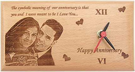 Presto Gift for Boyfriend or Girlfriend love Gift Anniversary Gift Birthday Gift Valentine's Day Gift Corporate Gift Wooden Photo Clock By Engraving process