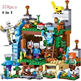 XuBa Blocks Kompatible Minecraft-Figuren, Bausteine, Baustein-Set, Lernspielzeug für Kinder, 378 Stück