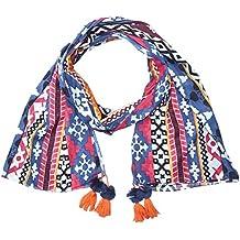 2fa76aaf17f0 Naf Naf Ugeocolo - Foulard - Imprimé aztèque - Femme - Bleu (Bleu Marine)