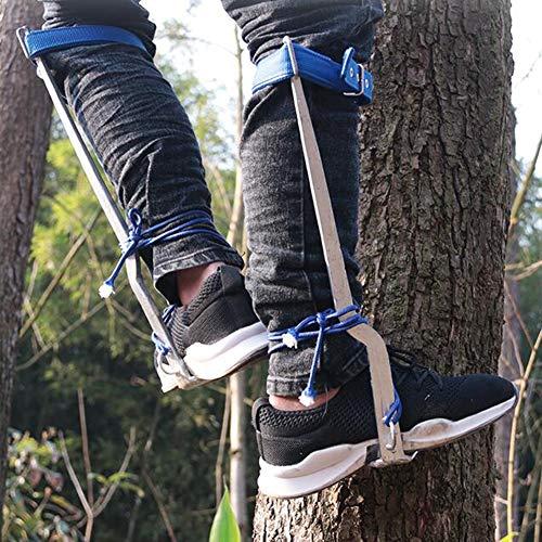 ICEDEC Rostfreier Stahl Steigeisen Verstärkungsgurt Baumsteigeisen Kletterhilfen Forstzubehör Nahtloses Schweißen Für Jagd Beobachtung Kommissionierung Obst