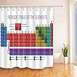 GoHEBE Multicolore Tableau périodique des éléments en blanc 175,3x 177,8cm résistant aux moisissures Rideau de douche en tissu en polyester de Fantastique Décorations de bain Rideau