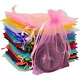 Avanti Creation Multicolor Plain Return Gift Potli Bags Organza Pouches Return Gift Favor Shagun Pouches Dry Fruit Pouches 14