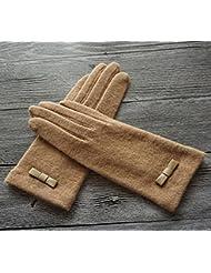 Longless Modelos de pantalla táctil de señoras de otoño e invierno guantes calientes guantes de deportes al aire libre frío