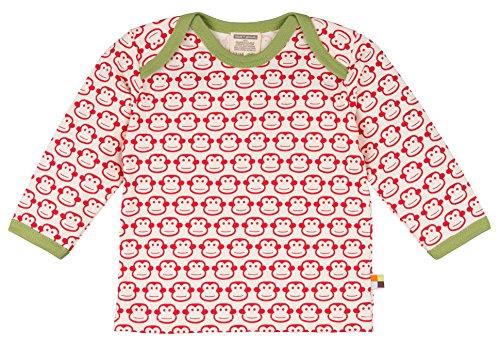 loud + proud Unisex Baby Sweatshirt Shirt Langarm Druck, Rot (Tomato To), 92 (Herstellergröße: 86/92)