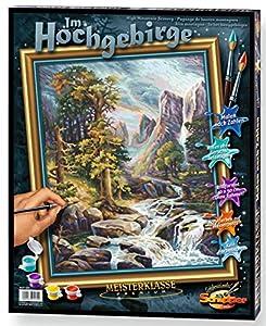 Noris Spiele Schipper 913 0430 - Pintura por números, en Las Altas montañas, 40x50 cm Importado de Alemania