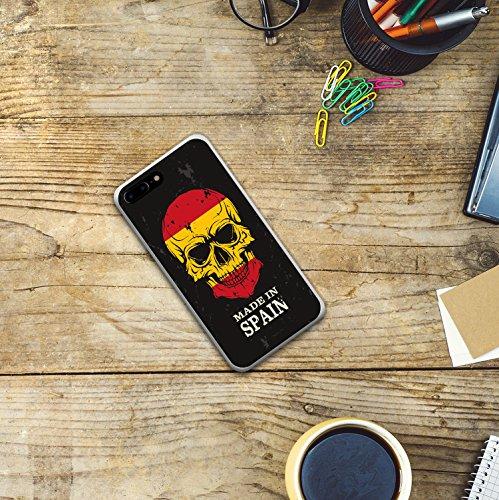 iPhone 7 Plus Hülle, WoowCase Handyhülle Silikon für [ iPhone 7 Plus ] Grau und Rosa Schädel Handytasche Handy Cover Case Schutzhülle Flexible TPU - Schwarz Housse Gel iPhone 7 Plus Transparent D0299
