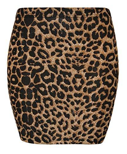 Minifalda Fashion Fairies - Estampado Stretch Bodycon Tartán - Tallas 36 - 48 multicolor leopardo