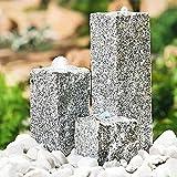 Heissner Garten/Terrassen Brunnen Granit Neptun, grau