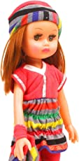 Storio 13 Inch Cute Baby Doll For Girls| Fully NON TOXIC | Beautiful American Girl dolls for baby girls | 34.5 CM Ideal kids toys baby doll toys for girls | A Perfect Birthday Gift for Girls| Dress Color may vary