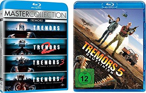 Tremors 1-5 BLU-RAY SET, deutsch, 1,2,3,4,5, I-V, I,II,III,IV,V, Im Land der Raketenwürmer (3 Der Toten Haus)