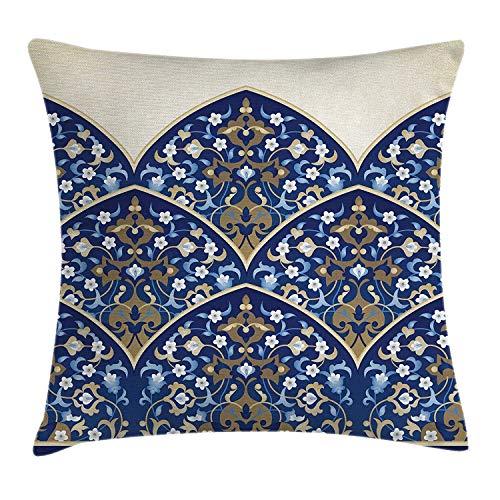 Kinhevao Traditionelles Haus Dekor Throw Pillow, persische Kunst Bogen mit Paisley-Formen türkischen Lace Palace Dekor, dekorative quadratische Akzent Kissen gesichert - Dekor Persische