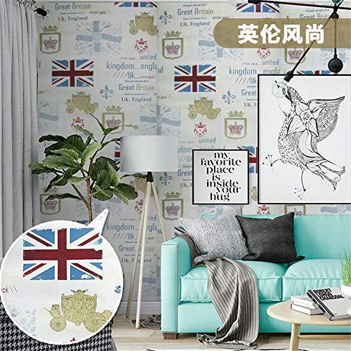 lsaiyy wasserdichte PVC Selbstklebende Tapete Tapete Schlafzimmer Wohnzimmer Schlafsaal Möbel Renovierung Aufkleber warme dekorative Wandaufkleber Tapete-45CMX10M -