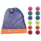 Kosma Unisex Tennisball, Gelb, Blau, Grün, Pink, Orange, Rot, One Size, KG-26077