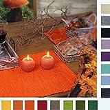 sander 2 Tischsets BREEZE 35x50cm 100% Baumwolle Rips große Farbauswahl (52 - intensiv orange)