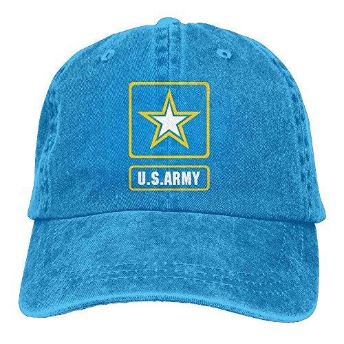 Preisvergleich Produktbild Presock Us Army Star Retro Washed Dyed Cotton Adjustable Denim Cowboy Cap Multicolor70