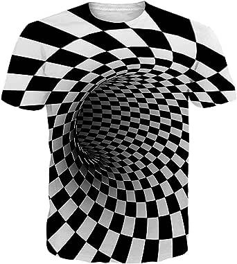 Fanient Men's T-Shirt 3D Printed Pattern Quick Dry Casual Summer T Shirts Novelty Short Sleeve T-Shirt