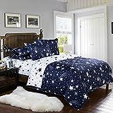 Die besten Gemütliche Bettwäsche Tröster Sets - ZHH Star Bettbezug Set, Galaxy Druck Bettwäsche-Set Platz Bewertungen