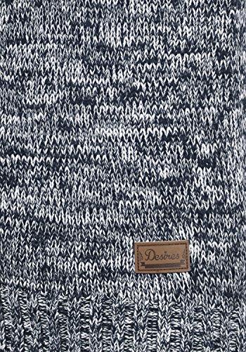 DESIRES Phenix Damen Strickjacke Grobstrick Cardigan Strickcardigan mit Reißverschluss Und Stehkragen Aus 100% Baumwolle, Größe:XS, Farbe:Insignia Blue (1991) - 5