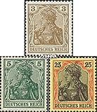 Prophila Collection Deutsches Reich 84II,85II,88II Kriegsdruck 1915 Germania (Briefmarken für Sammler)