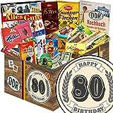 Geschenk zum 80. | Schokoladen Paket | 80 Geburtstag Geschenke Männer | Schokolade Korb | Geschenkset