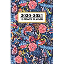 2020 - 2021 18 Month Planner: Colorful Blue Paisley Pattern | January 2020 - June 2021 | Daily Organizer Calendar Agenda | 6x9 | Work, Travel, School ... Calendar Agenda Home Work Family Organizer)