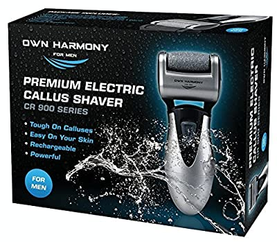 Rechargeable Hard Skin Remover - USA's Best Selling Electric Callus Remover by Own Harmony - Pedicure Tools w/ 3 Micro Diamond Rollers - Professional Spa Foot Care - Pedi Feet File (UK Plug)