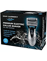 Electric Hard Skin Remover For Men by Own Harmony - USA's Best Rated Callus Remover - Rechargeable Pedicure Tools w/ 3 Micro Diamond Rollers (Reg. & Extra Coarse) - for Velvet Smooth Foot Care - Professional Spa Pedi Feet File (Universal USB Cord)