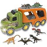 Dinosaurios Juguetes Camion Transportador - Carrier Coches con 6 Dragón Jurassic World Navidad Regalos Juegos Vehículo para N
