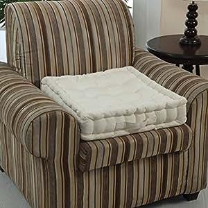 homescapes coussin rehausseur cr me pour chaise ou fauteuil 50 x 50 x 10 cm coton 100. Black Bedroom Furniture Sets. Home Design Ideas
