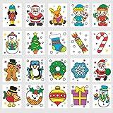 Baker Ross Tatouages temporaires de Noël (Lot de 24) - À Glisser dans Les Pochettes-Surprises de Noël