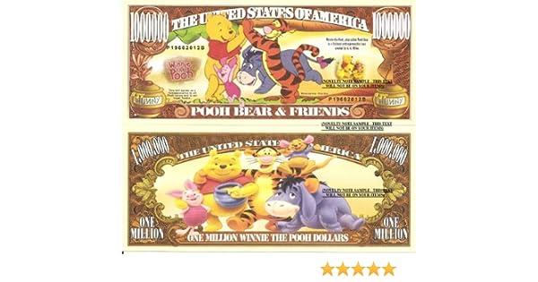 Pooh Bear /& Friends Disney Cartoon Character Million Dollar Novelty Money