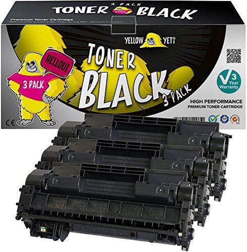 Yellow Yeti CE505A 05A (2.300 Seiten) 3 Premium Toner kompatibel für HP Laserjet P2030 P2035 P2035n P2050d P2055 P2055d P2055dn P2055x Canon i-SENSYS LBP6300dn LBP6650dn LBP6670dn [3 Jahre Garantie] -