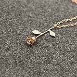 Repino Damen-Halskette mit Rosenanhänger, goldfarben, silberfarben, tolles Geschenk rose gold