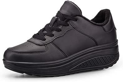 Donna Piattaforma Casuale Scarpe Traspirante A Passeggio Sneaker